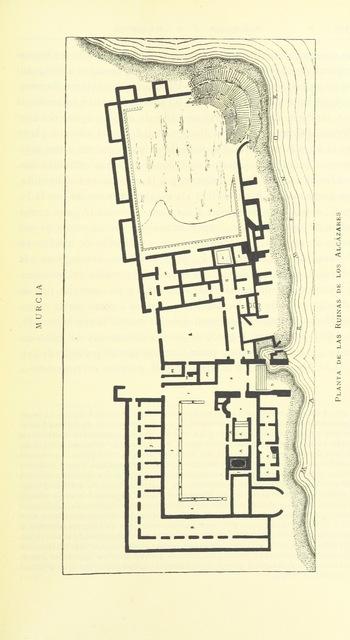 """map from """"Murcia y Albacete ... Fotograbados y heliografías de Thomás, dibujos de Cabrinety, cromos de Xumetra"""""""