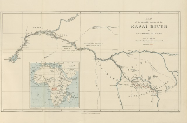 "map from ""The First Ascent of the Kasaï: being some records of service under the Lone Star ... With fifty-seven illustrations and two maps, etc"""