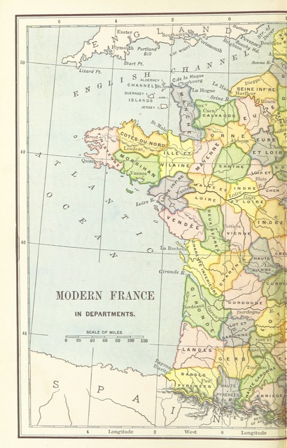 "map from ""The Leading Facts of French History"""