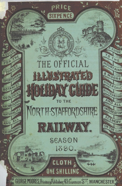 "cover from ""The Official Illustrated Holiday Guide to the North Staffordshire Railway. [With illustrations.]"""