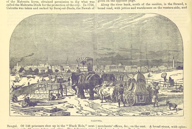 """Kolkata from """"[Pictorial tour round India; with remarks on India past and present, alleged and true causes of Indian poverty, supposed or real, twelve means available for promoting the wealth of the country, etc.]"""""""