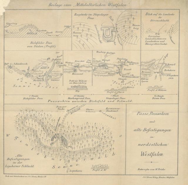 """map from """"Das mittelalterliche Westfalen oder die alten Sitten, Gesetze ... und Gewohnheiten der Roten Erde ... Nebst Karte und Abbildungen"""""""
