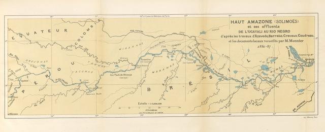 """map from """"Des Andes au Para. Équateur, Pérou, Amazone ... Dessins de G. Profit"""""""