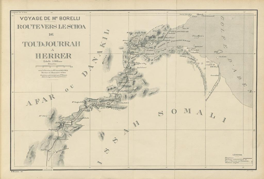 """map from """"Éthiopie méridionale. Journal de mon voyage aux pays Amhara, Oromo et Sidama, septembre 1885 à novembre 1888. [With plates, including a portrait, and with maps.]"""""""