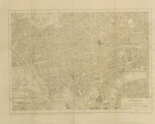 """map from """"[Memorable London Houses: a handy guide, with ... anecdotes and a reference plan ... With ... original illustrations from drawings made ... by G. N. Martin.]"""""""