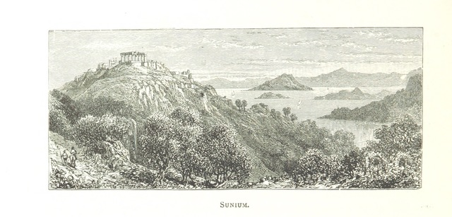 "southernmost tip of the Attica peninsula from ""Greek Pictures, drawn with pen and pencil"""