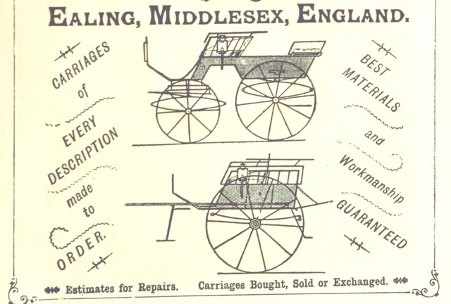 "advertisement from ""An illustrated and descriptive guide to the great railways of England, and their connections with the continent"""