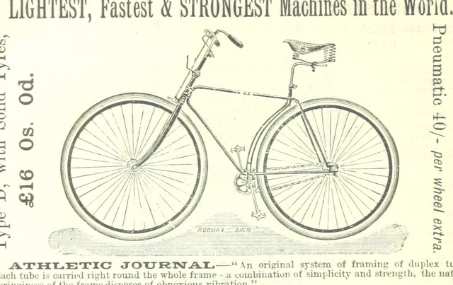 "bicycle from ""An illustrated and descriptive guide to the great railways of England, and their connections with the continent"""