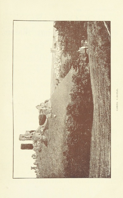"""castle from """"[A Descriptive Guide to Bournemouth, Christchurch, Wimborne and Corfe Castle ... Illustrated with map and photographs.]"""""""