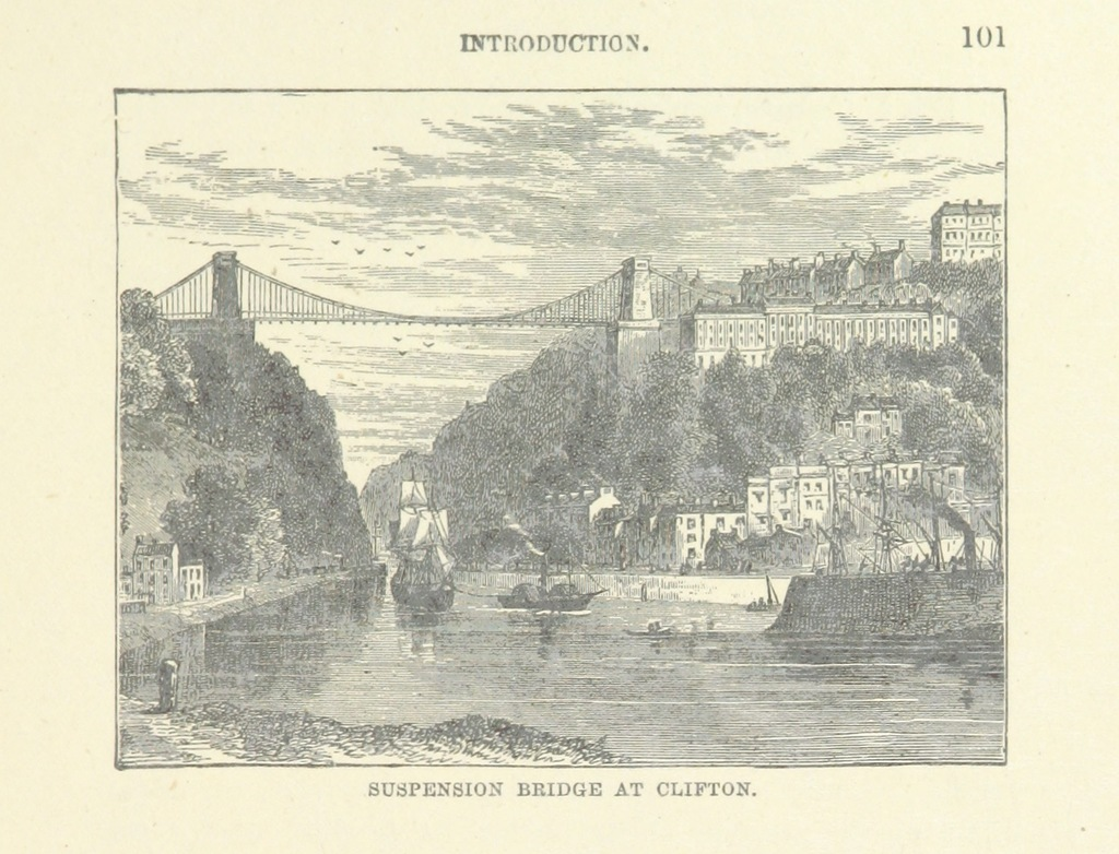 """Clifton from """"[Bristol Cathedral.] Ward and Lock's Illustrated Historical Handbook to Bristol Cathedral, etc"""""""