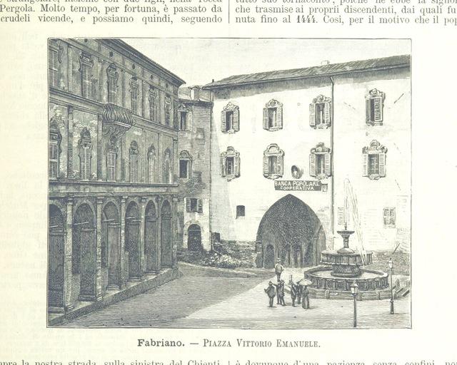 """Fabriano from """"L'Italia geografica illustrata, etc"""""""