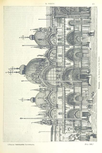 """La Basilica di San Marco from """"L'Italia geografica illustrata, etc"""""""