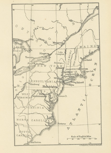 "map from ""A Transatlantic Holiday: or, notes of a visit to the Eastern States of America"""