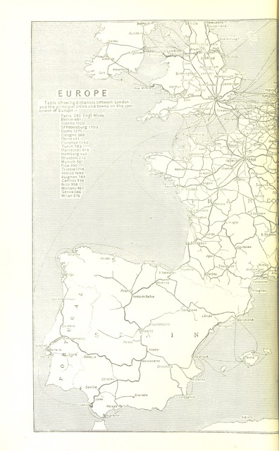 "map from ""An illustrated and descriptive guide to the great railways of England, and their connections with the continent"""