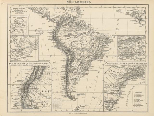 "map from ""Dr. Bernhard Förster's Kolonie Neu-Germania in Paraguay"""