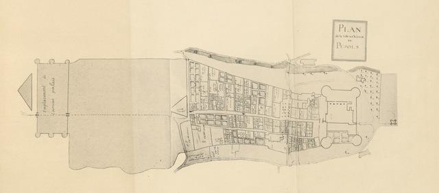 """map from """"Essai historique sur la Baronnie de Pujols en Agenais"""""""