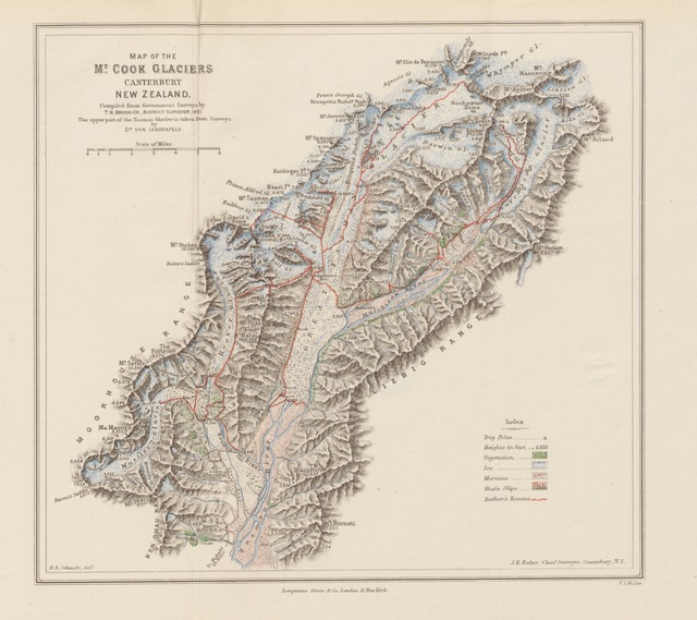 "map from ""With Axe and Rope in the New Zealand Alps ... With illustrations"""