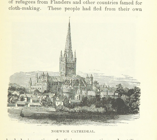 """Cathedral from """"About England: or, First lessons in English Geography"""""""