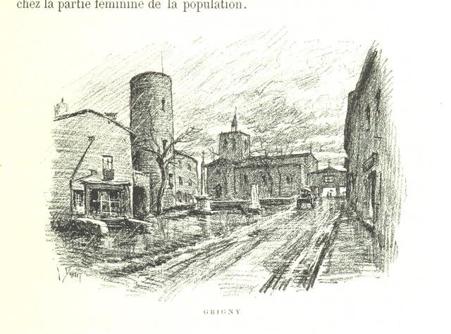 """Rhône from """"Aux Environs de Lyon: préface de M. Coste-Labaume. Édition illustrée de 250 dessins de J. Drevet, etc"""""""