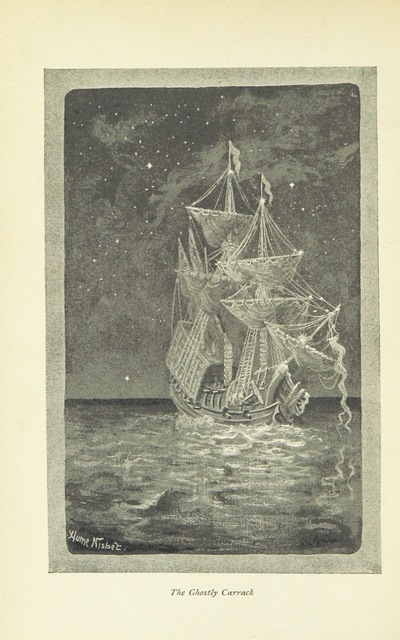 """The Ghostly Carrack from """"The Jolly Roger. A story of sea heroes and pirates"""""""
