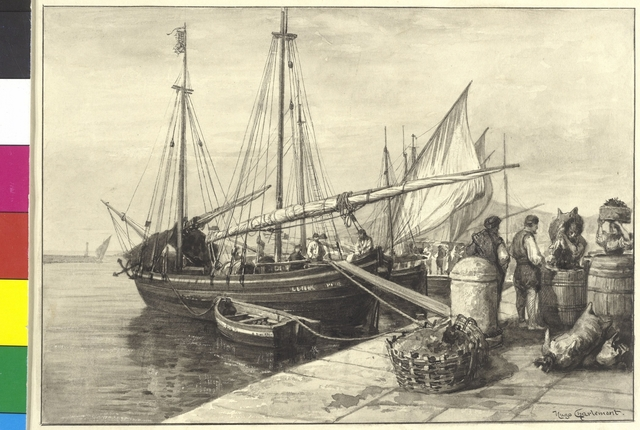 Wein einladende Schiffe von den Inseln bei Spalato