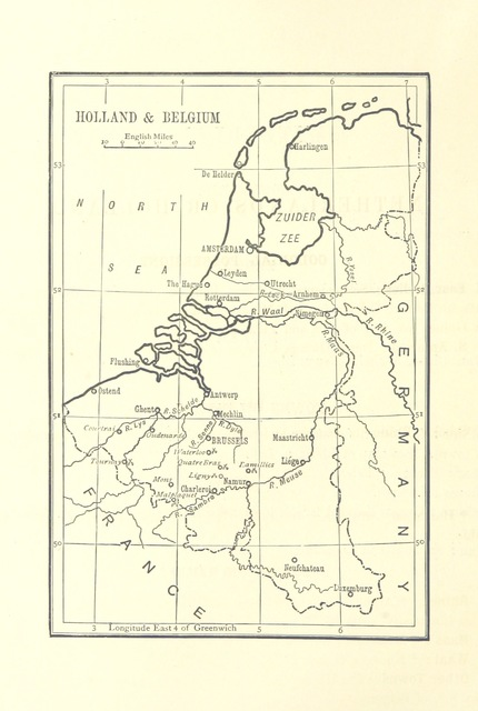 """Belgium from """"[Outlines of Geography for the use of lower and middle forms of schools and of candidates for the Army Preliminary Examinations ... With numerous maps.]"""""""