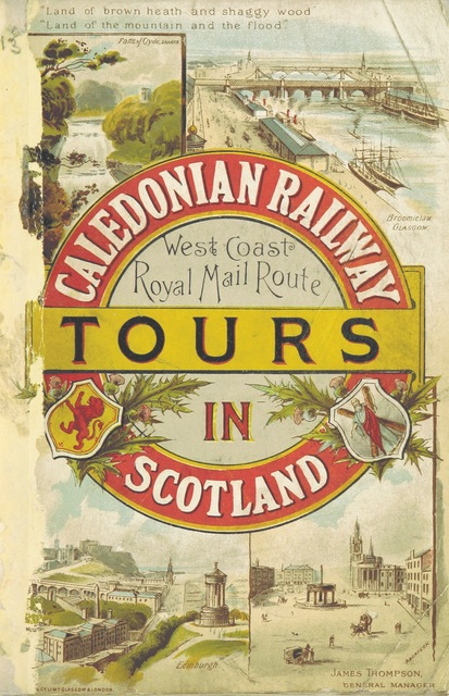 """cover from """"Caledonian Railway. Tours in Scotland. [With maps.]"""""""