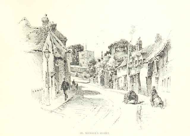 """Hertfordshire from """"St. Albans, historical & picturesque. With an account of the Roman city of Verulamium ... Illustrated by Frederic G. Kitton"""""""