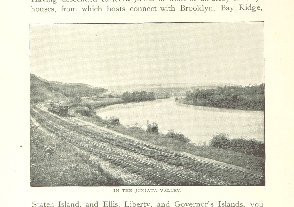 """Juniata Valley from """"Pennsylvania Railroad to the Columbian Exposition, with descriptive notes of ... New York, Philadelphia, Baltimore, Washington, Chicago, and a complete description of the Exposition grounds and buildings ... Second edition"""""""