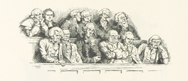 "Jury from ""Humorous Poems ... With a preface by A. Ainger, and ... illustrations by C. E. Brock. L.P"""