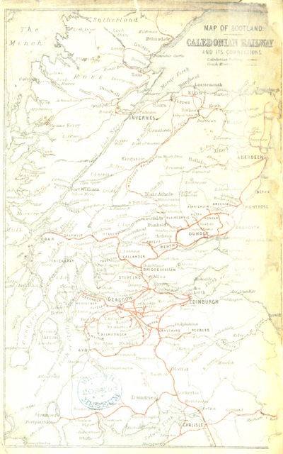 """map from """"Caledonian Railway. Tours in Scotland. [With maps.]"""""""