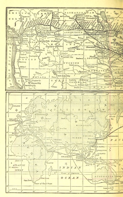 """map from """"Canadian Pacific Railway's Royal Mail Steamship Line. Japan and China ... Handbook of information"""""""