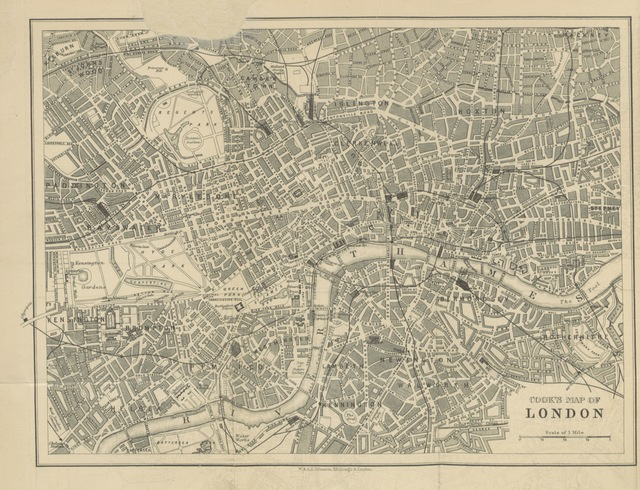 "map from ""[Cook's Handbook for London. With two maps.]"""