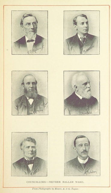 """portrait from """"Record of Municipal Affairs in Sheffield ... 1843 to ... 1893. [With portraits and a map.]"""""""