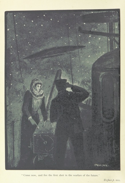 """science fiction from """"The Angel of the Revolution: a tale of the coming Terror. ... With illustrations by F. T. Janes"""""""