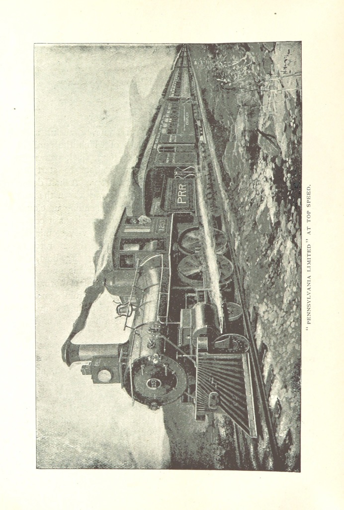 """steam engine from """"Pennsylvania Railroad to the Columbian Exposition, with descriptive notes of ... New York, Philadelphia, Baltimore, Washington, Chicago, and a complete description of the Exposition grounds and buildings ... Second edition"""""""