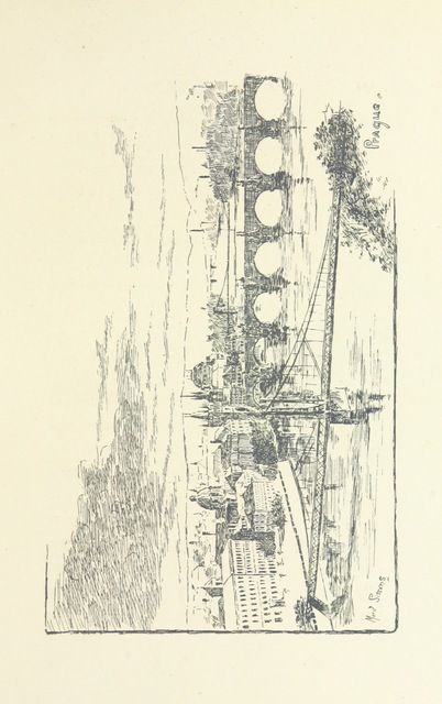 """Vltava from """"Boating in Bavaria, Austria, and Bohemia, down the Danube, Moldau and Elbe. By Rev. A. F. R. Bird ... and the rest of the boat's crew. [With illustrations.]"""""""