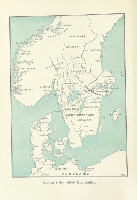 Map From Nordens Forhistorie Efter Samtidige Mindesmaerker