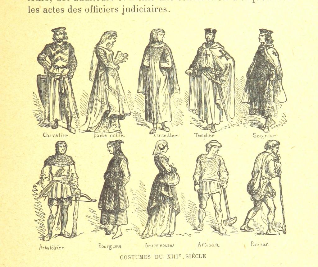 """13th century from """"La Cité à travers les âges ... 64 illustrations de E. Coppin"""""""