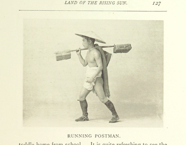 """letter carrier from """"Letters from the Land of the Rising Sun. Being a selection from correspondence contributed to """"The Times"""" between the years 1886 and 1892 ... With seventy-six illustrations"""""""