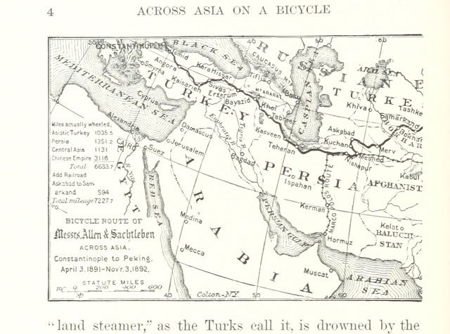 Map Of Asia For Students.Map From Across Asia On A Bicycle The Journey Of Two American