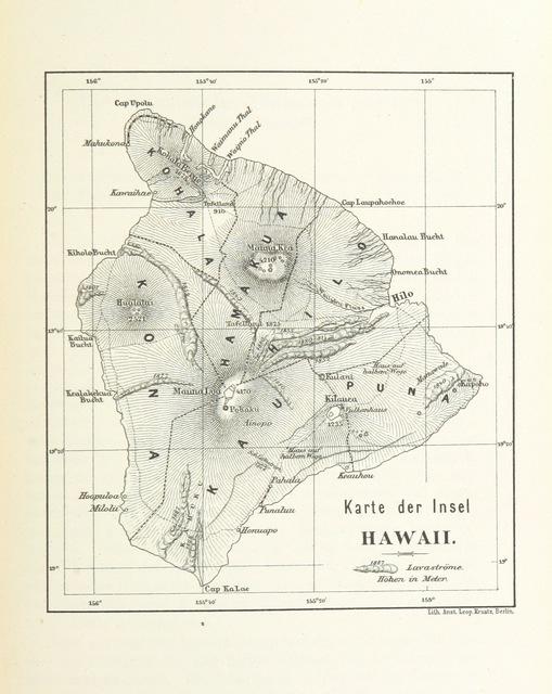 """map from """"Die Hawaiischen Inseln ... Mit ... Karten, etc. (Literatur-Uebersicht.)"""""""