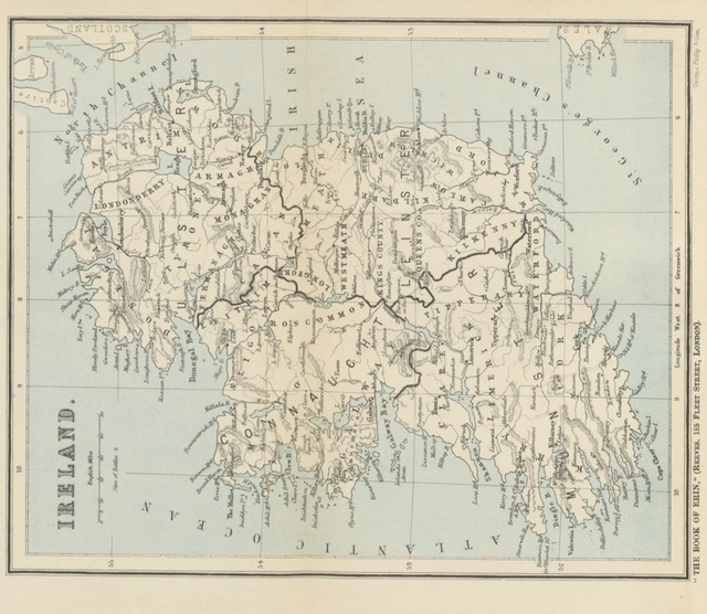 """map from """"The Book of Erin, or, Ireland's story told to the new democracy. [With a map.]"""""""
