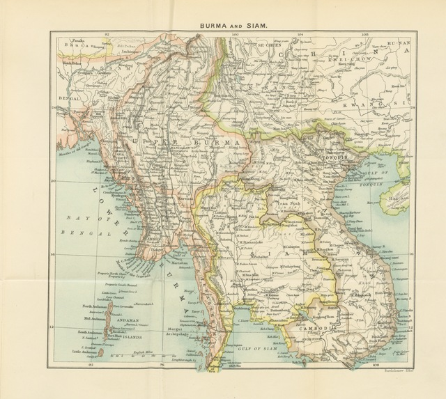 Map From The Colonisation Of Indo China Translated By A B Brabant