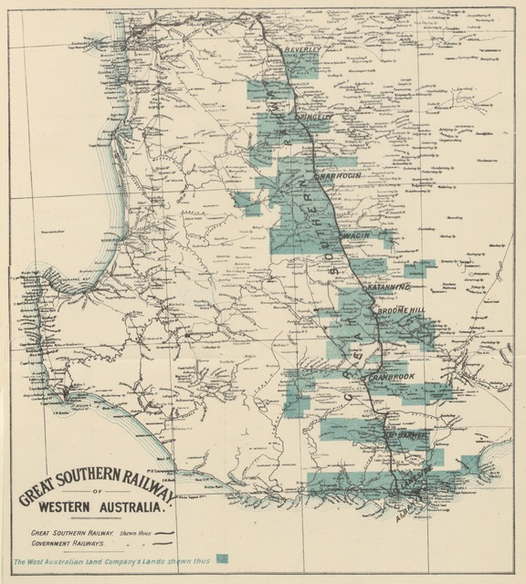 """map from """"The Coming Colony. Practical notes on Western Australia ... Second edition"""""""