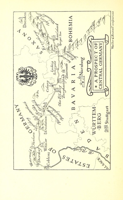 "map from ""The Gypsy Road: a journey from Krakow to Coblentz ... With illustrations by E. H. New"""