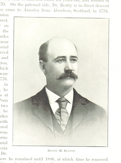 """Henry M. Beatty from """"History of Trenton, New Jersey, etc. [With illustrations.]"""""""