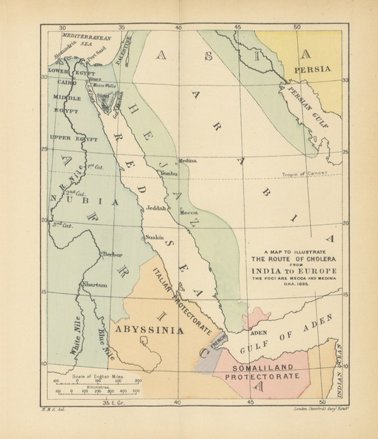"map from ""A Private Journal in Egypt ... 1894 ... 1895, etc. [With a portrait.]"""