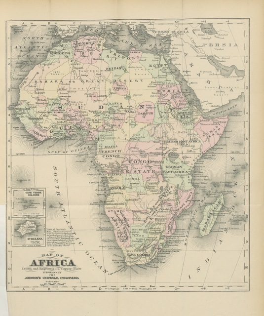"map from ""Actual Africa; or, the coming Continent. A tour of exploration, etc"""