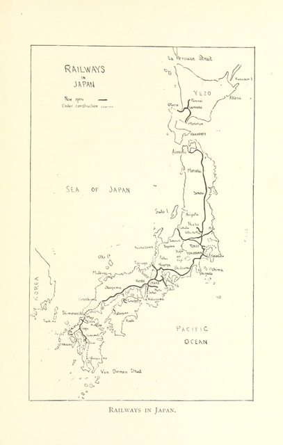"""map from """"Advance Japan: a nation thoroughly in earnest. ... Illustrations by R. Isayama"""""""